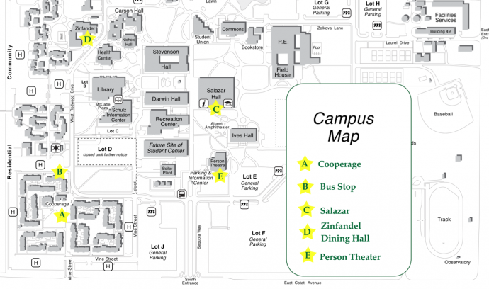 Sonoma State University Map 2012 US Biochar Conference | Location and Maps